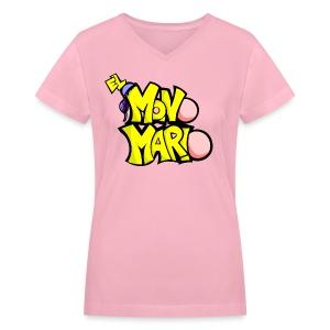 T-Shirt Mujer Logo MM - Women's V-Neck T-Shirt