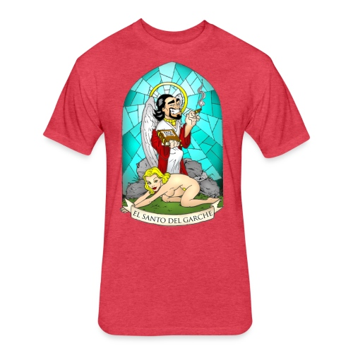 T-Shirt Hombre Santo - Fitted Cotton/Poly T-Shirt by Next Level