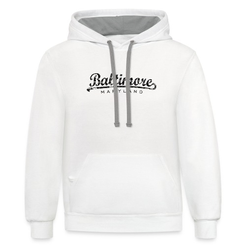 Baltimore,Maryland Tank Top (Women/White) - Contrast Hoodie