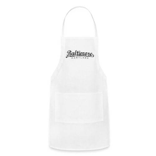 Baltimore,Maryland Tank Top (Women/White) - Adjustable Apron