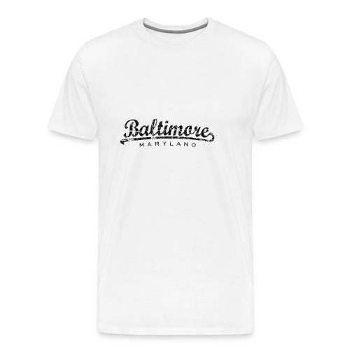 Baltimore,Maryland Tank Top (Women/White) - Men's Premium T-Shirt