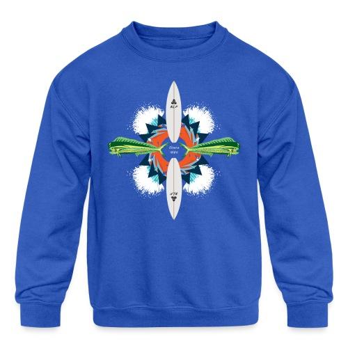 BLP Waves - Kid's Crewneck Sweatshirt