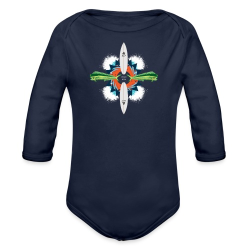 BLP Waves - Organic Long Sleeve Baby Bodysuit