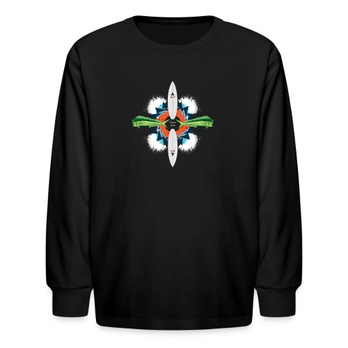 BLP Waves - Kids' Long Sleeve T-Shirt