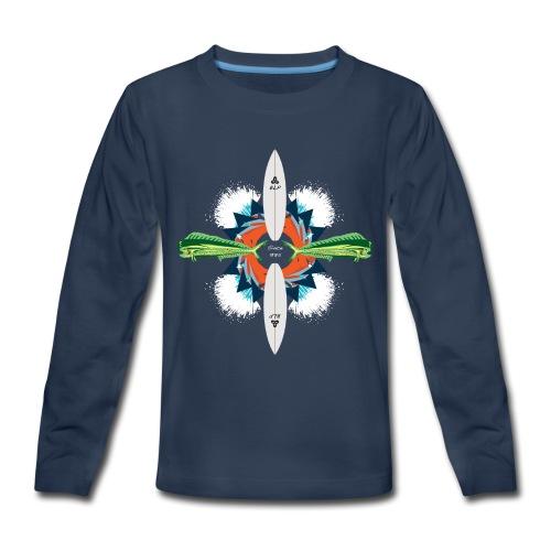 BLP Waves - Kids' Premium Long Sleeve T-Shirt
