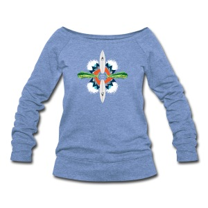 BLP Waves - Women's Wideneck Sweatshirt