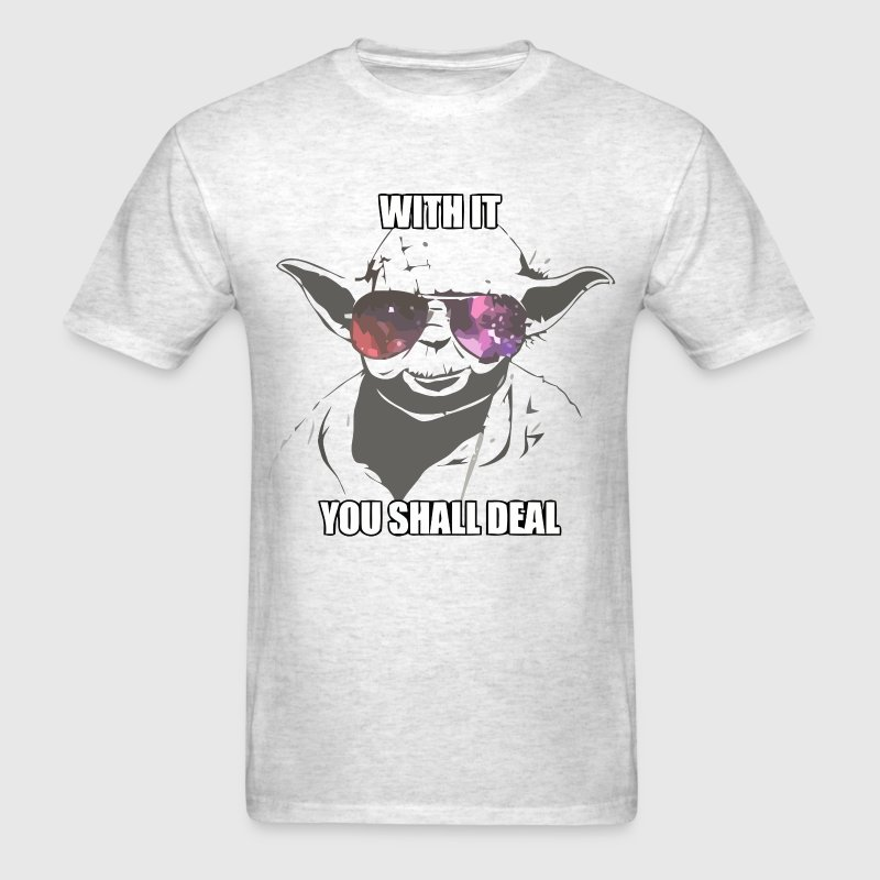 Deal with it Star Wars Yoda - Men's T-Shirt