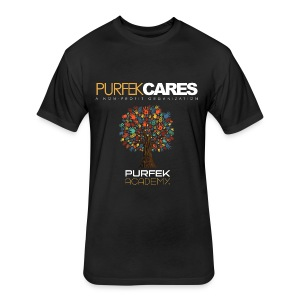 Purfek Cares (Men's T-Shirt) - Fitted Cotton/Poly T-Shirt by Next Level