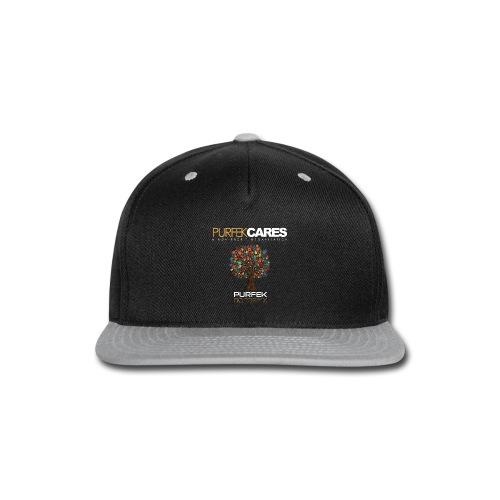 Purfek Cares (Men's T-Shirt) - Snap-back Baseball Cap
