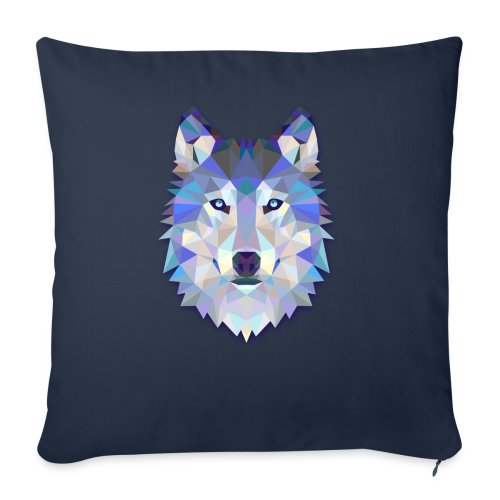 "Wolf Abstract - Throw Pillow Cover 18"" x 18"""