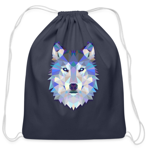 Wolf Abstract - Cotton Drawstring Bag