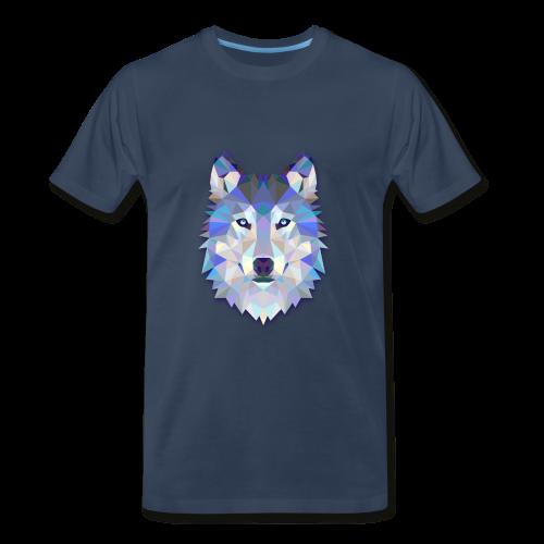 Wolf Abstract - Men's Premium T-Shirt