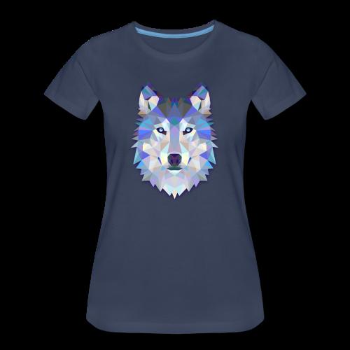 Wolf Abstract - Women's Premium T-Shirt