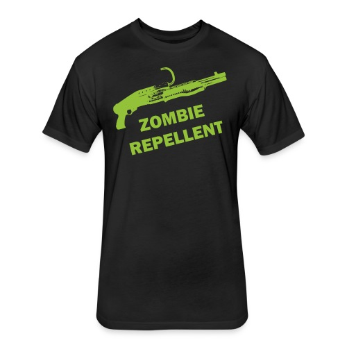 Zombie Repellent - Fitted Cotton/Poly T-Shirt by Next Level