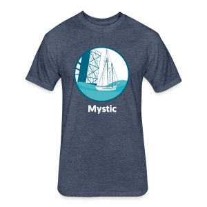 Mystic CT Drawbridge Unisex Tri Tee Shirt - Fitted Cotton/Poly T-Shirt by Next Level