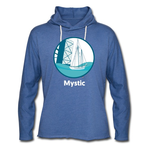 Mystic CT Drawbridge Unisex Tri Tee Shirt - Unisex Lightweight Terry Hoodie