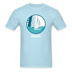 Mystic CT Drawbridge Unisex Tri Tee Shirt - Men's T-Shirt
