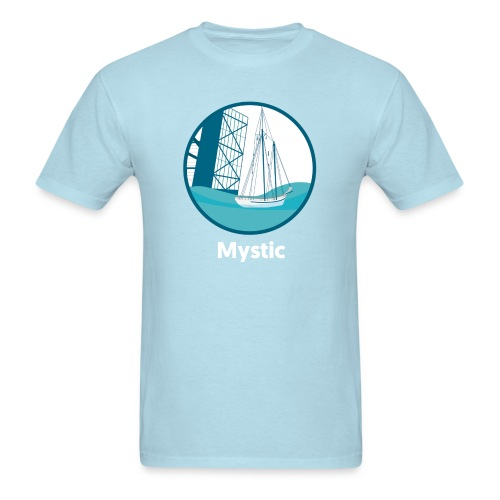 Mystic CT Drawbridge Unisex Tri Tee Shirt - Men's T-Shirt