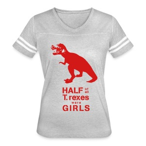 T.rex Fitted Tee - Women's Vintage Sport T-Shirt