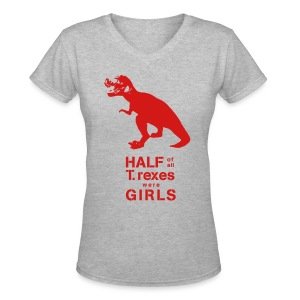 T.rex Fitted Tee - Women's V-Neck T-Shirt