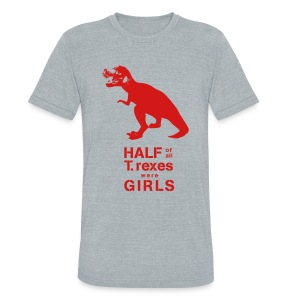 T.rex Fitted Tee - Unisex Tri-Blend T-Shirt by American Apparel