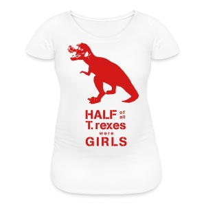 T.rex Fitted Tee - Women's Maternity T-Shirt