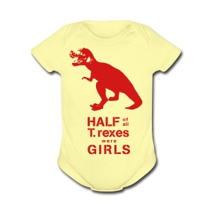 T.rex Toddler Tee - Short Sleeve Baby Bodysuit