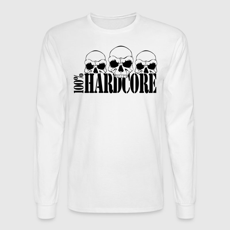 100% Hardcore Long Sleeve Shirts - Men's Long Sleeve T-Shirt