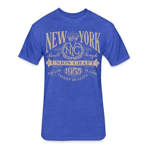 NYC Union Craft_cream - Fitted Cotton/Poly T-Shirt by Next Level