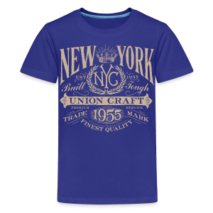 NYC Union Craft_cream - Kids' Premium T-Shirt