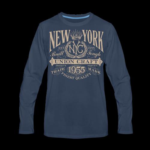 NYC Union Craft_cream - Men's Premium Long Sleeve T-Shirt