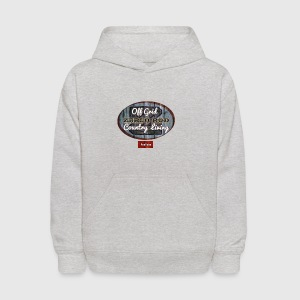 Whi  Rustic Logo for YouTuber: Zebco Rod Off Grid  - Kids' Hoodie