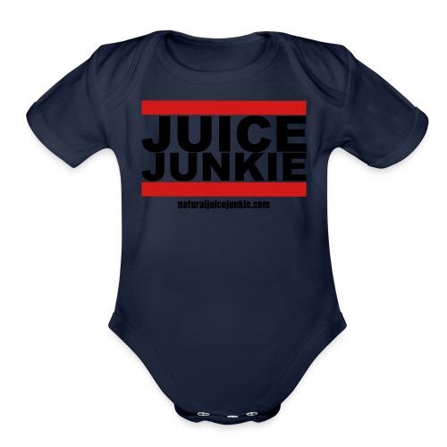Womens V-Neck (Old school) - Organic Short Sleeve Baby Bodysuit