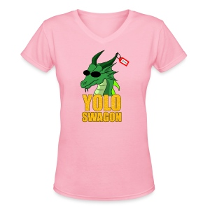 Yolo Swagon (Women's) - Women's V-Neck T-Shirt