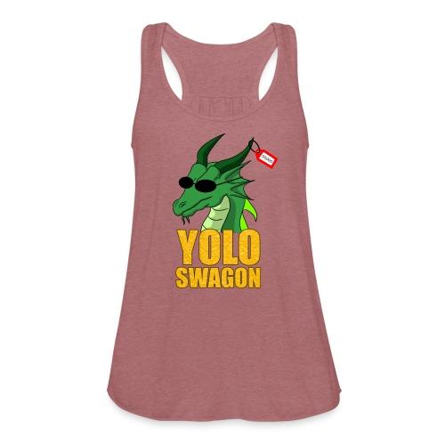Yolo Swagon (Women's) - Women's Flowy Tank Top by Bella
