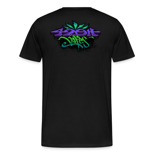 Mens Zip-UP Hoodie 42oh Logo 3 - Men's Premium T-Shirt
