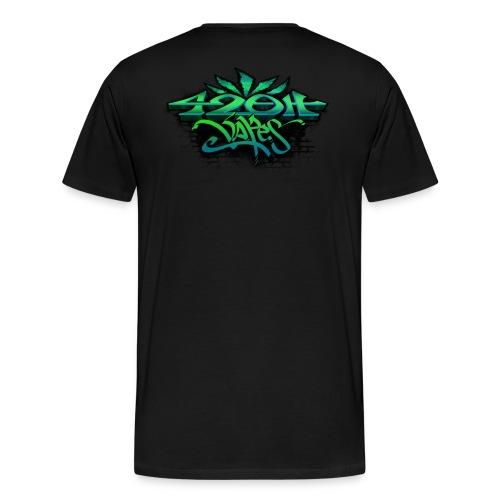 Mens Zip-UP Hoodie 42oh Logo 4 - Men's Premium T-Shirt