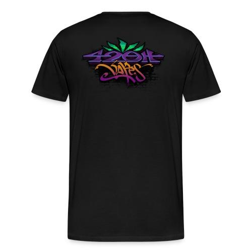 Mens Zip-UP Hoodie 42oh Logo 2 - Men's Premium T-Shirt