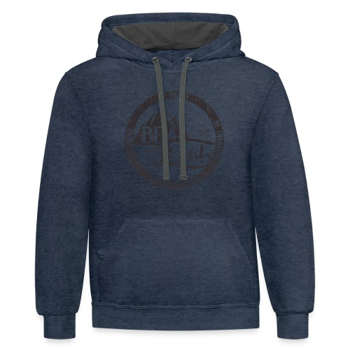 BE the Road - Distressed Logo - Contrast Hoodie
