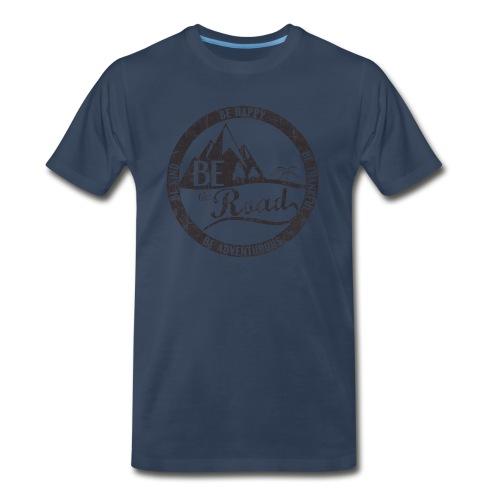 BE the Road - Distressed Logo - Men's Premium T-Shirt