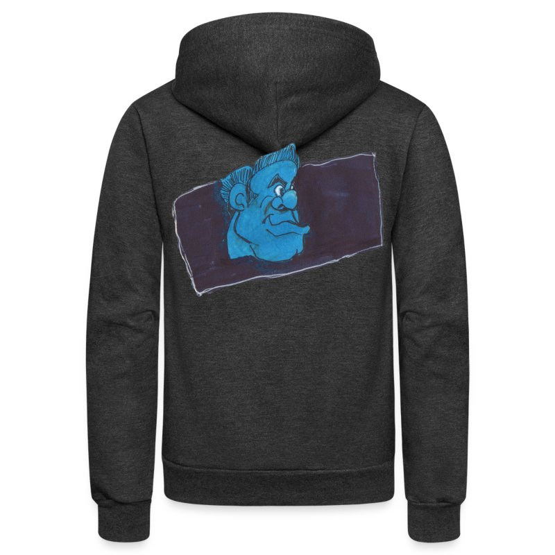 HEADBUST 77.png - Unisex Fleece Zip Hoodie by American Apparel