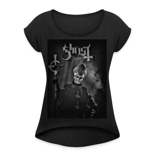 Ghost - Papa Emeritus II WOMEN - Women's Roll Cuff T-Shirt
