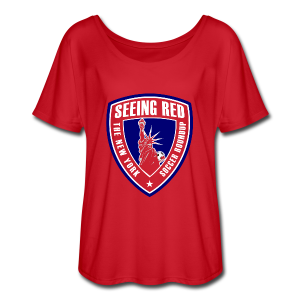 Seeing Red! Logo - Kid's T-Shirt, Red - Women's Flowy T-Shirt