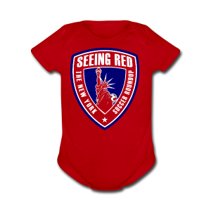 Seeing Red! Logo - Kid's T-Shirt, Red - Short Sleeve Baby Bodysuit