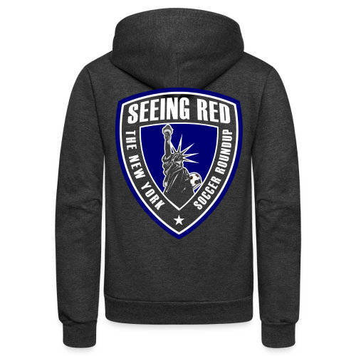 Seeing Red! Logo - Kid's T-Shirt, Red - Unisex Fleece Zip Hoodie