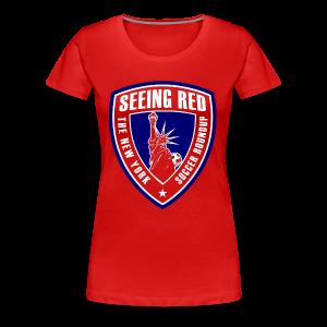 Seeing Red! Logo - Kid's T-Shirt, Red - Women's Premium T-Shirt