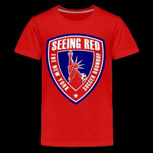Seeing Red! Logo - Kid's T-Shirt, Red - Kids' Premium T-Shirt