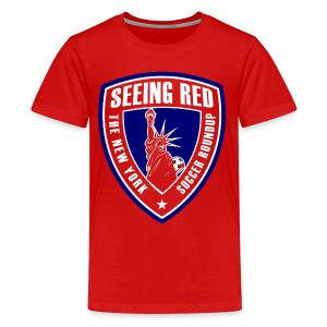 Seeing Red! Logo - Kid's T-Shirt, Red - Kids' Premium T-Shirt