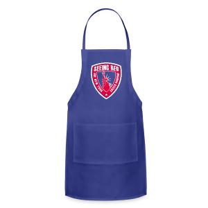 Seeing Red - Kid's T-Shirt, Navy - Adjustable Apron