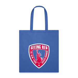 Seeing Red - Kid's T-Shirt, Navy - Tote Bag